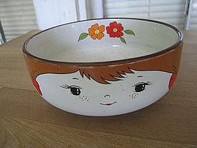 Little Girl Pigtails Bowl