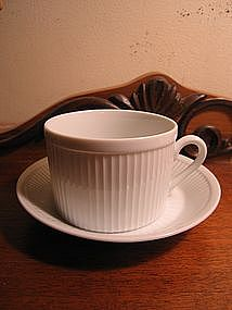 Fitz and Floyd Classic White Cup and Saucer