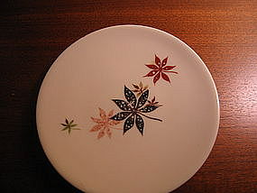 Shenango Calico Leaves Bread Plate