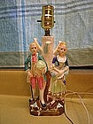 Colonial Couple Lamp