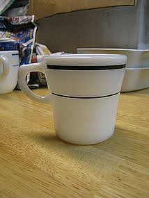 Corning Green Band Mug