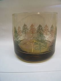 Vintage Glass with Trees