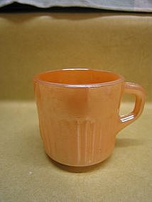Peach Luster Demitasse Cup