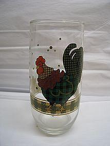 Gingham Chicken Glass