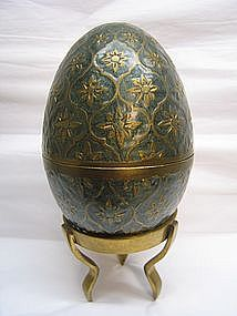 Enameled Brass Egg