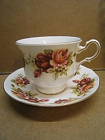 Queen Anne Roses Cup and Saucer