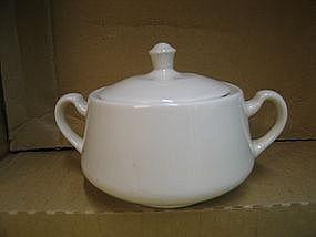 White Homer Laughlin Sugar Bowl