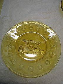 Amber Bicentennial Plate