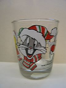 Bugs, Tweety and Sylvester Christmas Glass