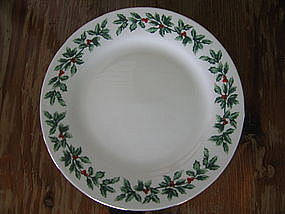 Baum Bros. Holly Plate