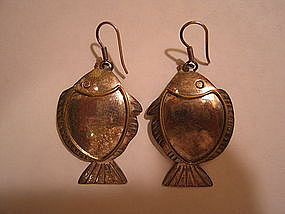 Silver Fish Earrings