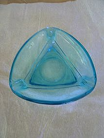 Turquoise Glass Ashtray