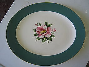 Homer Laughlin Empire Green Platter