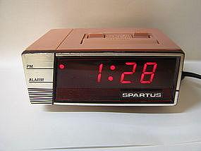 Pink Spartus Clock
