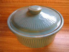 Turquoise Pottery Casserole