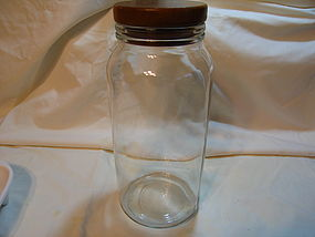 Glass Kitchen Canister with Wooden Lid