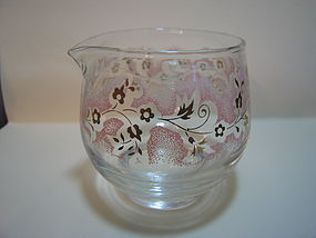Libbey Pink Gold Flowers Creamer