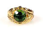 Edward Everett Oakes 14K Gold & Tourmaline Ring