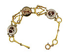Tiffany & Co 14K Gold Essex Crystal Equestrian Bracelet