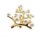 Mikimoto Cultured Pearl 14K Gold TREE OF LIFE Pin