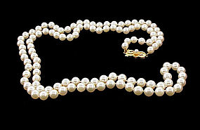 Mikimoto 32� Opera Length 6x6.5mm Pearl Strand Necklace