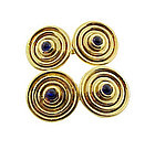 18K Gold & Sapphire Cufflinks