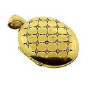 Vintage English 18K Gold & Diamond Locket
