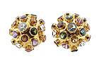 H Stern 18K Yellow Gold & Gemstone Sputnik Earrings
