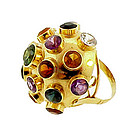 H Stern 18K Yellow Gold & Gemstone Sputnik Ring