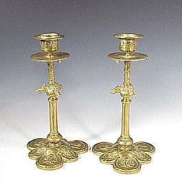 Bronze Candlesticks From Jockey Club De Paris