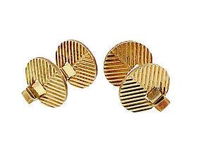 Birks Art Deco 14K Gold Flip-Up Cufflinks
