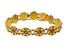 Victorian Art Nouveau 14K Gold & Ruby Floral Bracelet