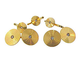 Bailey, Banks & Biddle 14K Gold & Diamond Dress Set