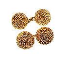 Vintage Van Cleef & Arpels 18K Gold Seed Pod Cufflinks