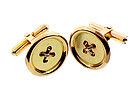 Vintage 14K Yellow Gold Button Cufflinks