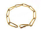 Cartier 18K Yellow Gold & Diamond Oval Link Bracelet