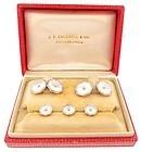 Edwardian 14K Gold, Platinum, Pearl & MOP Dress Set