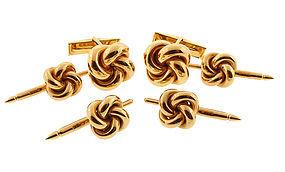 14K Yellow Gold Knot Dress Set