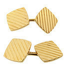 Art Deco 14K Yellow Gold Double-Sided Cufflinks