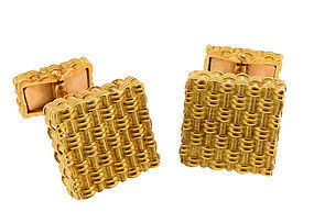 Tiffany & Co. France 18K Gold Cufflinks