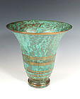 Carl Sorensen Patinated Bronze Art Deco Trumpet Vase