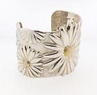 Tiffany Sterling Silver & 18K Gold DAISY Cuff Bracelet