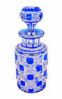 Baccarat Crystal Blue-Cut-To-Clear Perfume Bottle