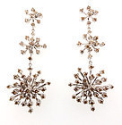 H Stern 18K Gold Cognac Diamond Snowflake Earrings