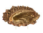 Victorian Frogs Bicycles French Bronze Card Tray