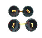 Art Deco 14K Gold & Bloodstone Cufflinks