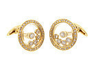 18K Gold & Diamond HAPPY DIAMOND Style Cufflinks