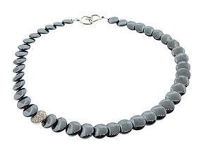 Cummings Tiffany Diamond Hematite Lentils Necklace