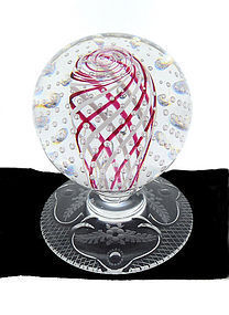 Antique Pairpoint VENETI Footed Glass Paperweight