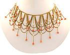 Victorian Pallotti Venetian 18K Gold Pearl Coral Festoon Necklace